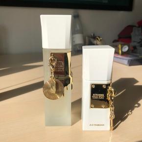 """Justin Bieber parfume - """"The Key"""" og """"Collector's Edition"""". Lidt under halvdelen er brugt i begge. 50 ml og 30 ml."""