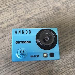 Helt nyt Annox actionkamera. Lige ombyttet til helt nyt, så aldrig brugt. Der medfølger vandtæt etui og to ekstra batterier.  16 megapixel