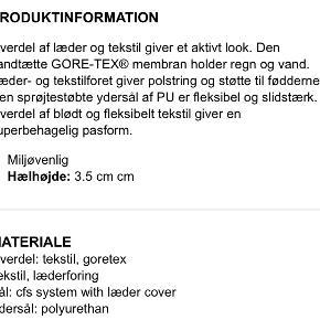 Ecco str. 40 Nypris 1000kr  Indv. sål knap 26cm Med Gore-Tex  Brugt få gange, fejler ikke noget.