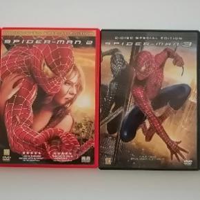 Spider man 1 2 3 4 Dansk tekst Sælges samlet