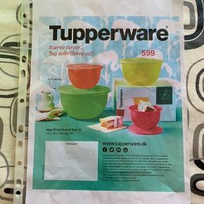Magnificent Avanti sæt (4)  fra Tupperware i lyserød, orange, gul og grøn. 1,3 Liter, 2,5 Liter, 4,3 Liter og 7,5 Liter Bud modtages gerne  Sælges for min mor / Tupperware forhandler  Kan evt kontaktes på 22324564
