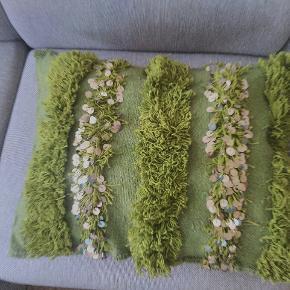 Pudebetræk fra vintage marrokansk tæppe ☺ L: 56,5 x h:44 cm