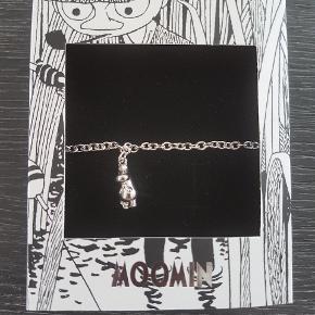 Mumi armbånd med snorkfrøken   Sølv  Str 18-19,5cm  Nyt i æske   Sjældent armbånd