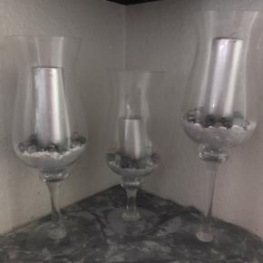 Lysestager / vaser 😊  3 stk .