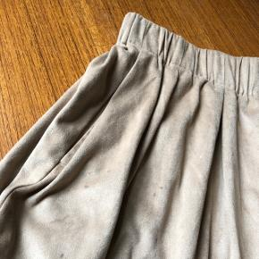 Has got a couple small dots on the fabric but isn't something you see when wearing it (see picture 2). Can probably be removed by right wash. Really cute fitting and color.