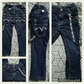 smarte jeans med sele i siden Farve: se billede