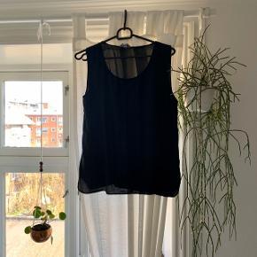 100% silk vintage black tank top