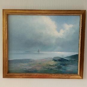 Fint enkelt maleri af svensk kunstner!   Bredde incl ramme 70 cm Højde incl ramme 60 cm