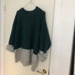 Flot grøn/grå Envii sweater med glimmer 💚