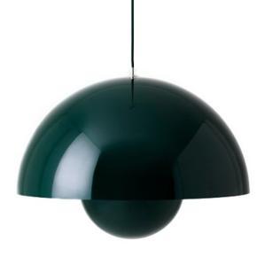 Verner Panton, flowerpot vp1 Lampe inkl grøn ledning. Farve: dark green. Meget velholdt.