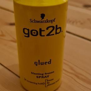 Schwartzkopf got2be glued blasting freeze spray, 100 ml, rejsestørrelse Aldrig brugt eller afprøvet