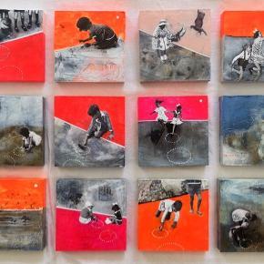 Foto 1 maleri 50x50 akryl på lærred Foto 2-3 10x10cm akryl på Mdf  Se gerne mine øvrige annoncer