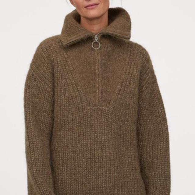 Grovstrikket trøje i uld