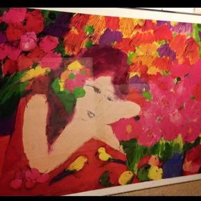 Giv et bud ! Walasse Ting plakat i fede farver med aluramme. 1m høj og 1,43m bred. Skal hentes i Fredericia.