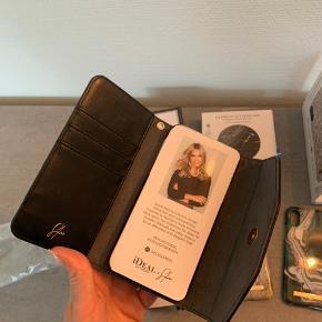 Helt nye iDeal Of Sweden ting til iPhone x/xs  4 covers  1 trådløs oplader  Pung med plads til telefon og kort