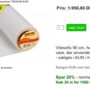 vlieseline hvid  50 kr pr meterF 220 tåler 95 grader