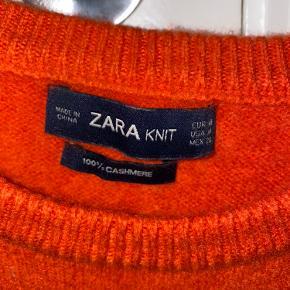 Zara brændt orange 100% cashmere trøje.