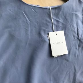 100% silke Style: A Bell Blouse Lavender Blue