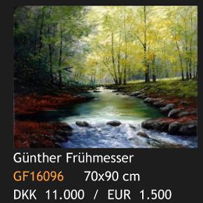 """Günther Frühmesser 90 x 70  Købt hos Midtjyllands kunstcenter  Skal afhentes i Silkeborg  Værket hedder """"Creek For Trauts"""""""