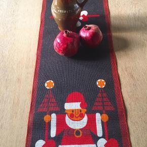 Retro juleløber i meget fin stand, jute, 29 x 120. Sødahl.