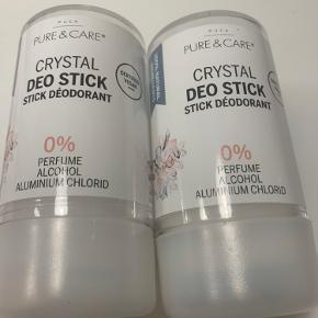Pure & care - VEGAN 🌱  CRYSTAL DEO STICK 120 g   0 perfume, alkohol, aluminium chlorid  Prisen er for begge📌  Tjek også mine andre beauty tilbud på TRENDSALE🤩📌