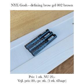 NYE Gosh - defining brow gel 002 brown   Pris: 1 stk. NU 20,- Vejl. pris: 80,- pr. stk. (5 stk. tilbage)   Se også over 200 andre nye produkter, som jeg har til salg herinde :-)