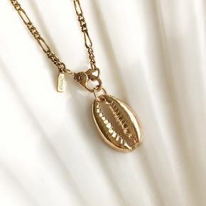 Musling vedhæng - sælges uden kæde.  Ikke ægte guld.   Kan sendes med postnord for 10 kr (: