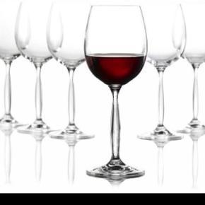 Erik Bagger rødvinsglas 5 stk. Lavet i krystalklart blyfrit glas, der tåler opvask.Prisen er for alle 5glas.