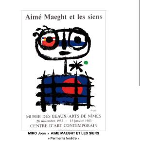 Joan Miro plakatMål 44x64,50 Jeg har ikke ramme til