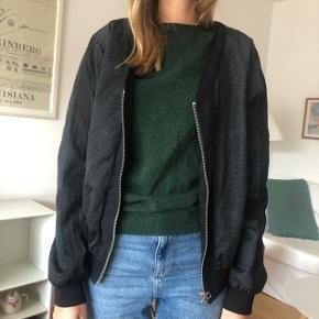 Bomber jakke Grønlig og sort mønster