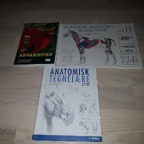 Bøger. Nsn dig akvariefisk fået et hak på omslaget.  35 kr stk eller alle for 100 kr Afhentning i Esbjerg V eller sendes