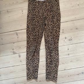 Leopard bomuld leggings tights lounge fest festival højtaljede  Udgåede
