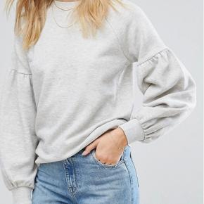 Grå ballon sweatshirt i str. xs