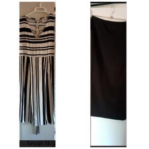 En kjole og en nederdel, 50 kr. Pr. Stk. Nederdelen er ikke brugt, og kjolen er brugt få gange.