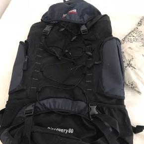 Stor rygsæk, med plads til en masse campingudstyr. Er brugt 1 gang.