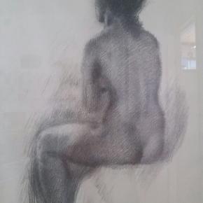 Sikker Hansen. Smuk nøgen kvinde  75×55 cm  Skal afhentes i Karlslunde eller Ringsted