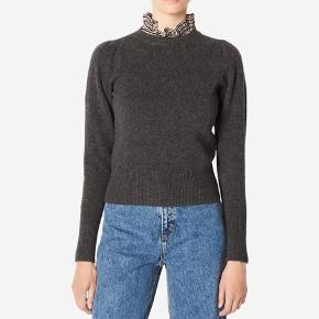 Sandro Paris grey sweater with detachable collar. Size 38, a few 'fnugger' but no marks.