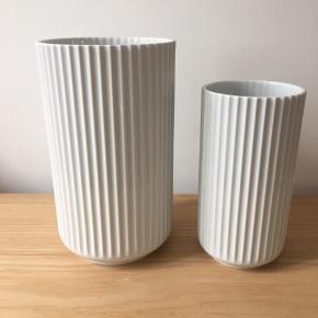 Lyngby vaser i rigtig fin stand. 20 og 25 cm 200,- og 400,-  Skal afhentes i Kolding eller sendes på købers ansvar