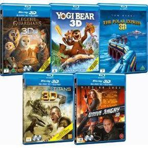 Brand: Blu Ray Varetype: Blu-Ray 3 D Film 5 stk Størrelse: - Farve: - Oprindelig købspris: 999 kr.  Det er en samlet pakke som ikke er åben.    Ren familie hygge.  TS / Mobilepay   Glæder mig til at handle med jer. Mvh. Inger Marie