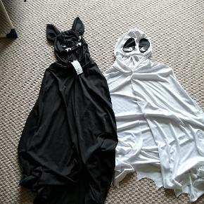 Halloween kostumer str. 134/152.  Flagermusekappe aldrig brugt Spøgelse en enkelt gang