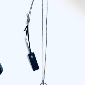 Splinterny halskæde med mærke fra Pure Sterling sort oxideret sølv Købt for 400,-