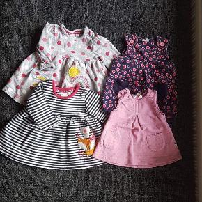 Tøjpakke til pige str. 56 Brugt, men fejler intet :) 7 heldragter 11 bodyer 5 par bukser 4 kjoler 1 hættetrøje med bukser  Sælges samlet