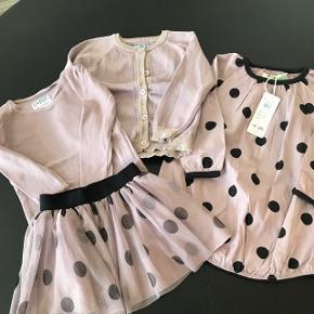 Kjole fra Phister og Philina str 98. Ny. Tylnederdel og bluse og cardigan str 98. Brugt få gang. Sælges samlet