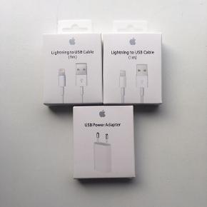 3 oplader,passer til iPhone 5,6,7,8,x.helt ny,aldrig brugt