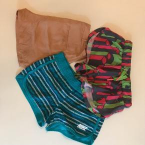 Shorts sælges samlet.  Fra mærkerne Kari Traa, Nike og Modstrøm. Nypris ialt 750,-