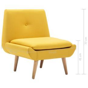Nye møbler til stuen? Sprit ny lænestol i den populære gule farve. Perfekt til indretning af stuen. Ubrugt, ny med kvittering.   Købt hos www.urbanshoppers.dk