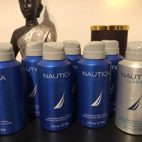 6 x blå deospray 1 x sølv deospray Normalpris 70,- pr stk. Sælges samlet til 200kr