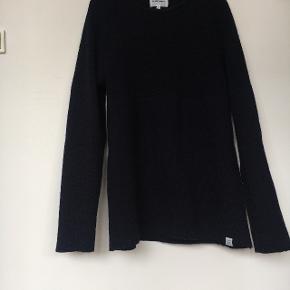 Norse Projects 100% uld sweater, mørkeblå, str. M