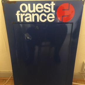 """""""Vest-Frankrig"""" metal skiltMåler 48 x 67 cm"""