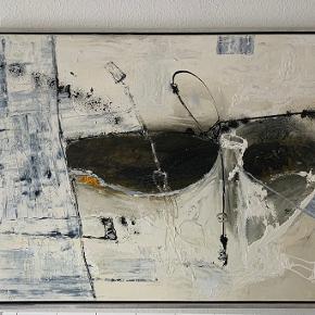 Flot oliemaleri af N. Olesen (Niels Olesen) fra 2004. Maleriet måler 90 x 120 cm. Mål i blændramme er 94 x 124 cm